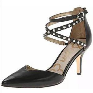 Sam Edelman Womens Black Studded Pumps Size 8.5